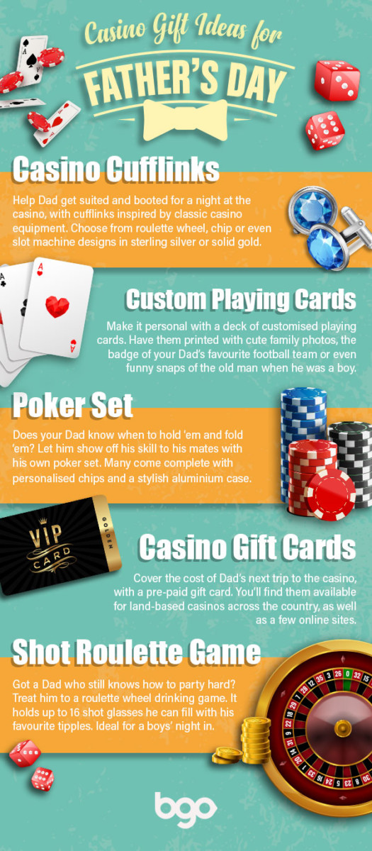 Top casino-inspired gift ideas for Father's Day